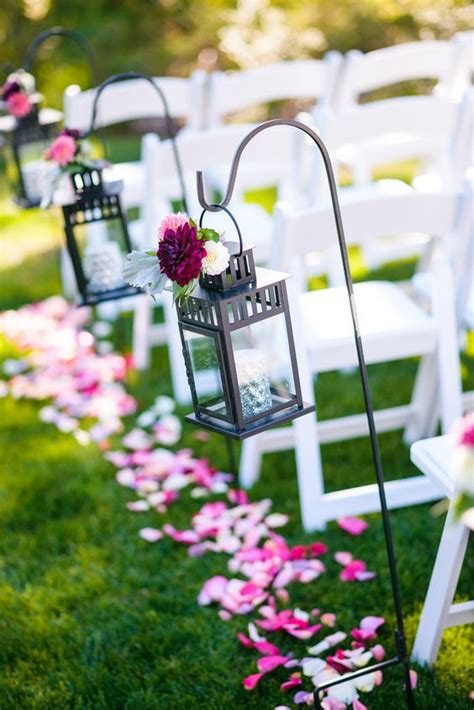 Wedding Aisle Lined With Lanterns by The World S Catalog Of Ideas