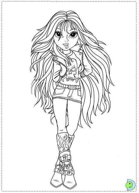 Moxie Girlz Coloring Page Dinokids Org Moxie Girlz Coloring Pages