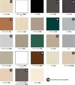 aluminum siding colors appleton supply co color guide