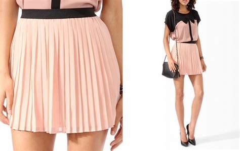 pink pleated chiffon skirt fashion