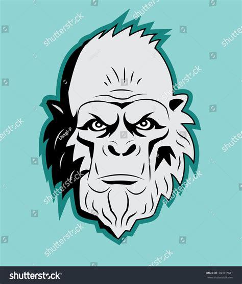 Yeti Bigfoot Head Vector Vector Sasquatch Stock Vector