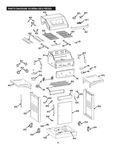 char broil parts diagram charbroil parts