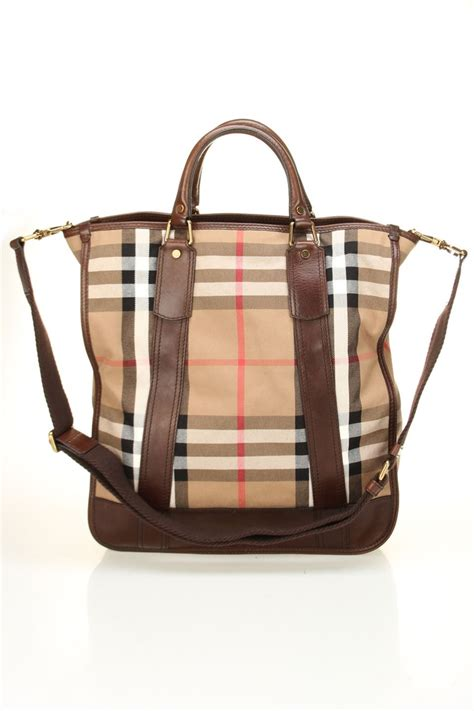 Beyond The Rack Purses by Burberry Vintage Washed Check Mayard Tote In