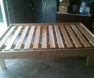 cheap easy  waste platform bed plans diy bed frame