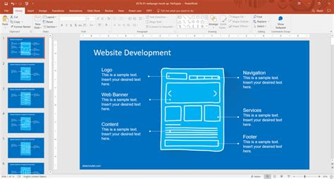 Website Development Presentation Template For Powerpoint how website template powerpoint presentations can