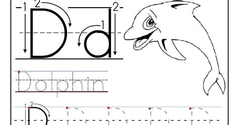 printable tracing letter d letter d tracing worksheets for preschoolers free