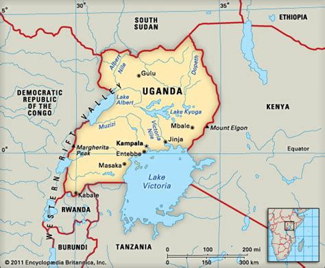 map of uganda uganda encyclopedia children s homework help dictionary britannica