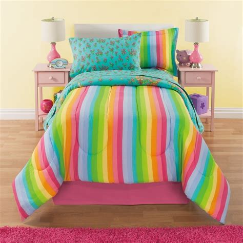 girls full comforter 8 piece girls rainbow comforter set full unicorn