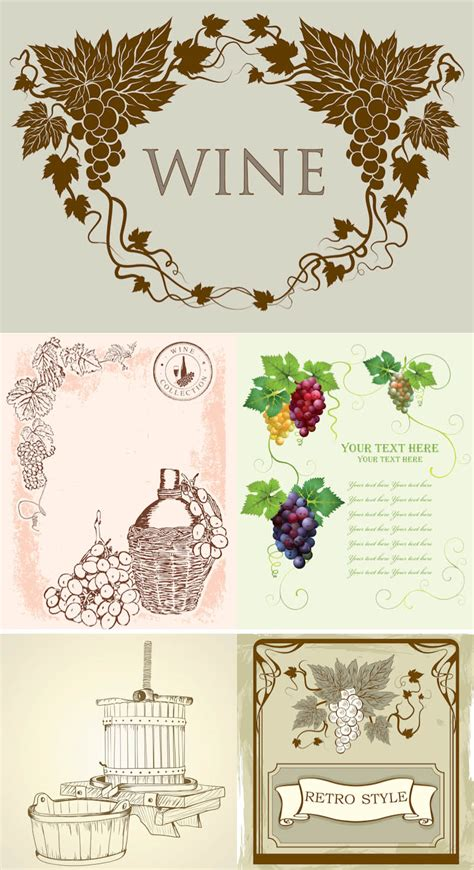 wine labels templates vintage vector graphics page 26
