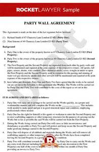 Boundary Dispute Letter Template Wall Agreement Create A Wall Agreement Template