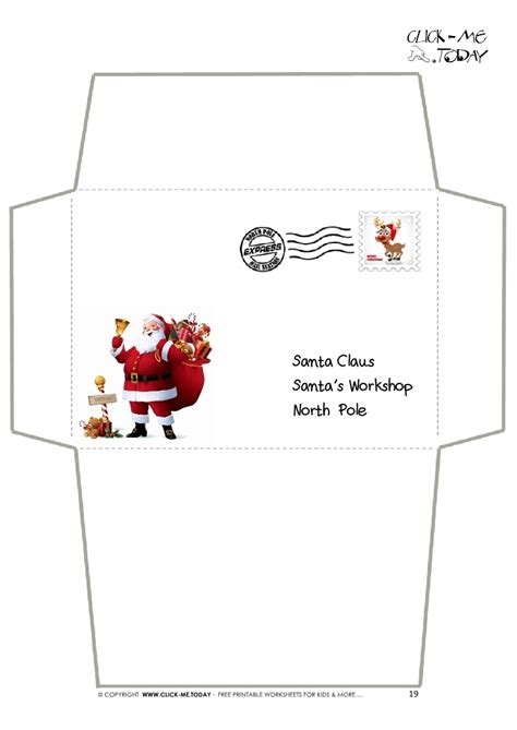 letter to santa template free printable black and white letter from santa envelope best template collection