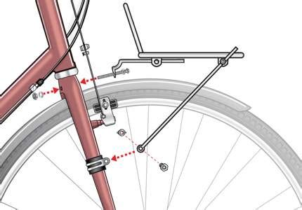 install rear bike rack without braze ons front and rear bicycle racks