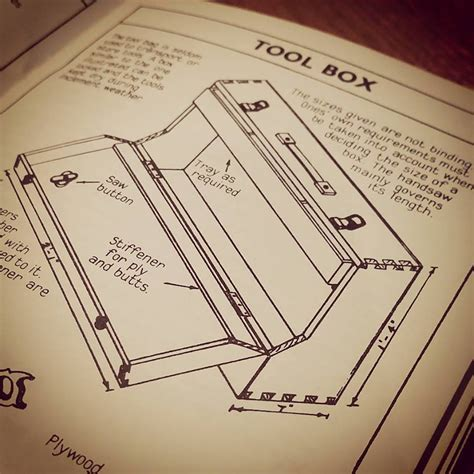 How To Make A Tool Box Out Of Paper - portable tool box build popular woodworking magazine