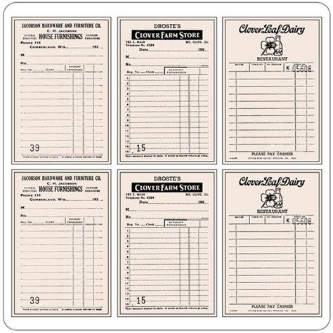 printable restaurant receipt restaurant receipts vintage journaling cards paper