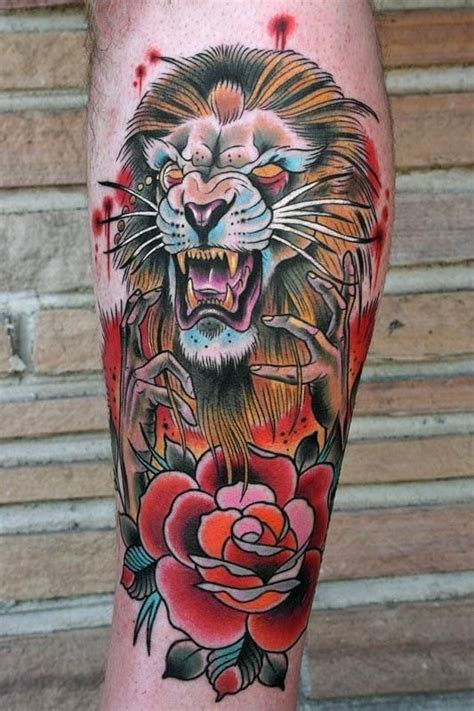 dangerous tattoo designs dangerous and flower designs on leg