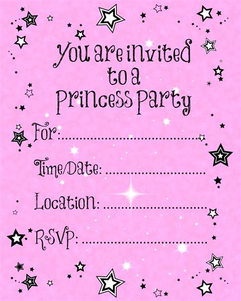printable invitation party free printable party invitations templates party