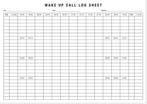 wake up call pads pack of 10 printed hotel supplies