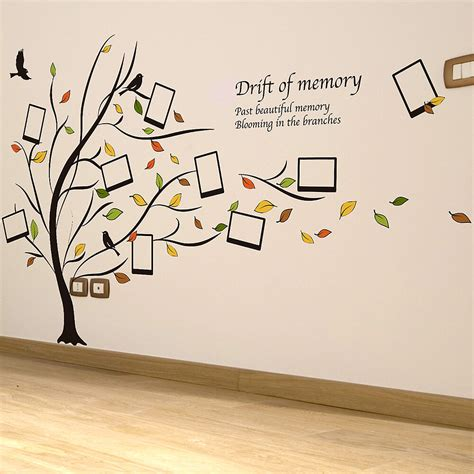 photo frame family tree wall stickers home decor decals homepage nutmeg pack seven picture
