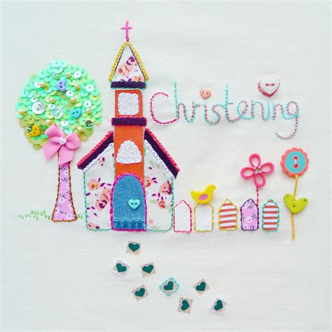 cards for christening card by buttongirl designs