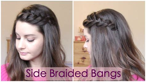 braided bangs hairstyles youtube braided hairstyles with bangs fade haircut