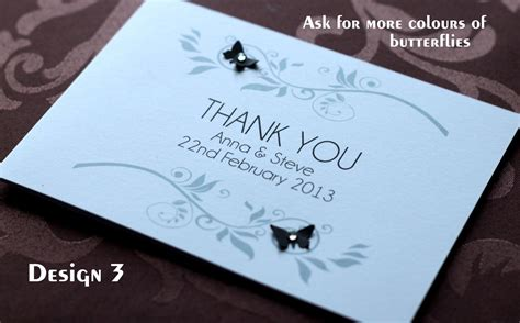 pack of handmade personalised wedding thank you cards 6