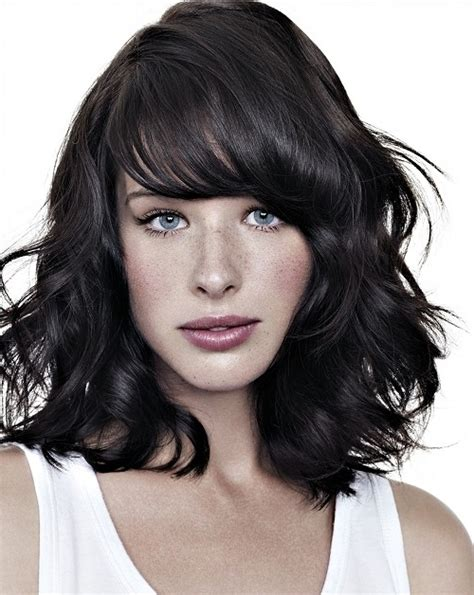 hairstyles thick bangs beautiful hairstyles for medium length thick hair with