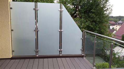 Balkon Trennwand