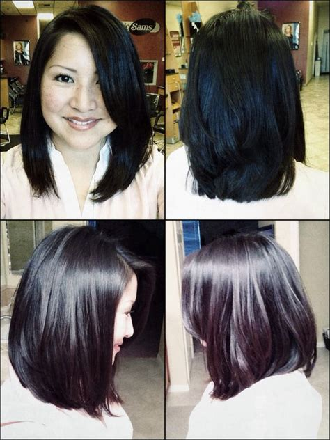 sideview of long wavy angled bob pinterest the world s catalog of ideas