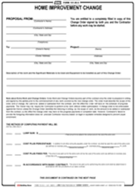 form 101hi c home improvement contract change reusable