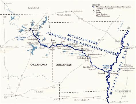 oklahoma rivers map oklahoma rivers and waterways for