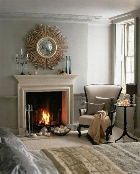 sunburst mirror fireplace mantel bedroom sunburst