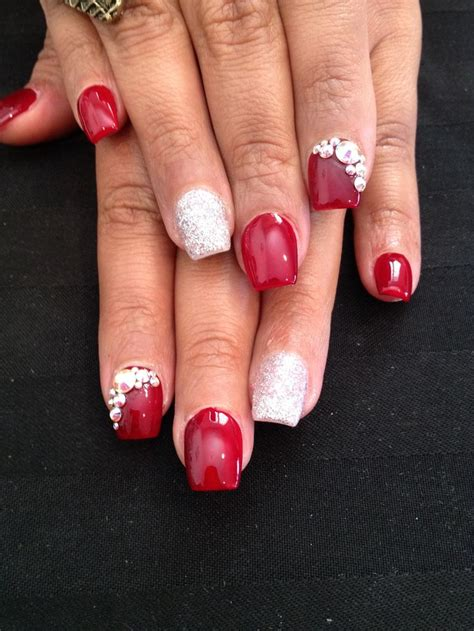 short coffin nails short red coffin nails prettyprettyfingers pinterest