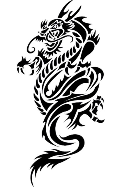 dragon design 3 the body is a canvas clipart best