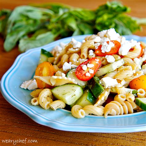 pasta salad recipes with mayo pasta salad without mayo the weary chef