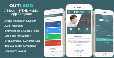 website templates for android outland ios android mobile app template by hastech