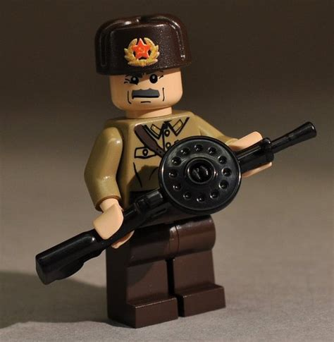 Lego Compatible Dp28 Rifle brickarms russian dp 28 machine gun ww2 lego minifigure weapon