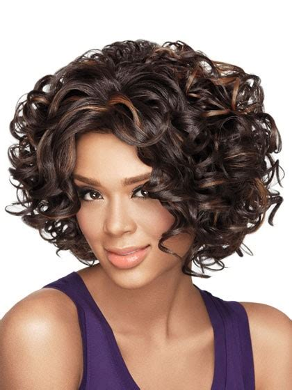 big loose curls chin length gorgeous curly chin length synthetic wig short human hair