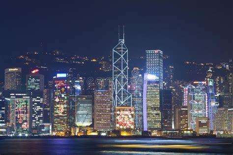 hong kong night view  christmas editorial photography