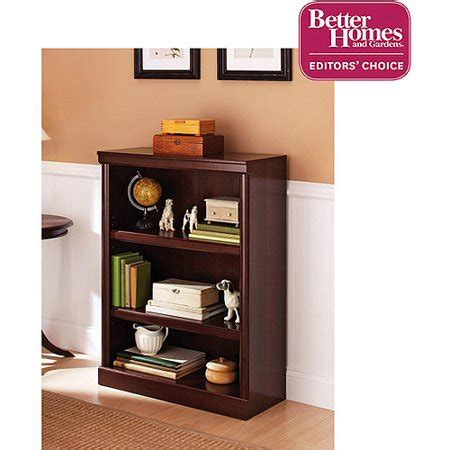 book shelves walmart better homes gardens ashwood road 39 quot 3 shelf bookcase cherry finish walmart