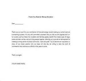 Thank You Letter Template For Monetary Donation Thank You Note For Money 8 Free Word Excel Pdf Format