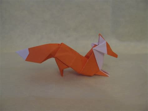 How To Make A Fox Origami - origami fox by orimin on deviantart