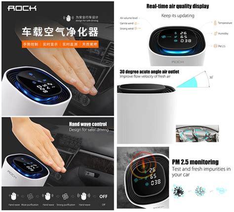 rock  car air purifier hand wave     pm