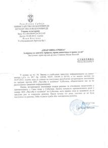 Official Letter Reply Serbia Constitutional Court Declares That Subotica City