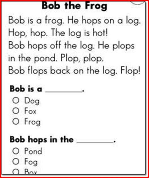 Reading Worksheets For 1st Graders by Free 1st Grade Reading Comprehension Worksheets Worksheets