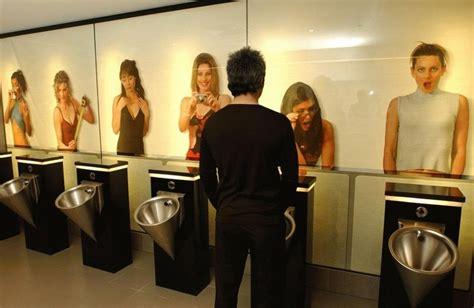 mens public bathroom men s restroom mural