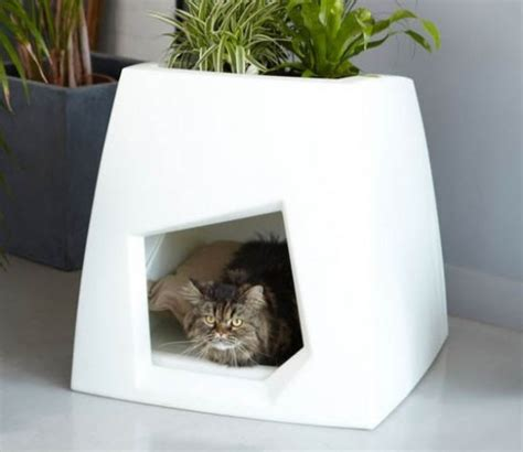 modern cat house the kokon modern pet house sprouts a green roof
