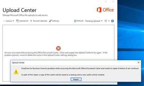 Microsoft Office Document Cache by Onedrive For Business The Microsoft Office Upload Centre
