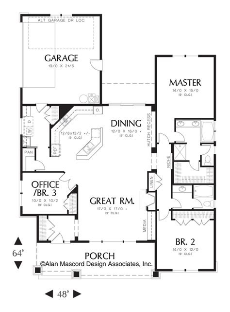 ellington floor plan mascord house plan 1154 the ellington