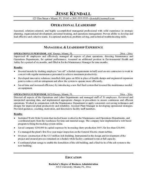 resume objectives for management the best letter sle