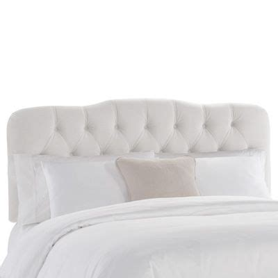 velvet tufted headboard white cali house